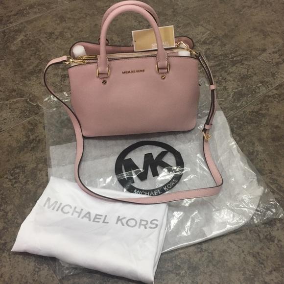 0342b0ad3fd2 Michael Kors Bags | Savannah Blossom Light Pink Handbag | Poshmark